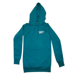 hoodie libérer l'animal femme turquoise devant