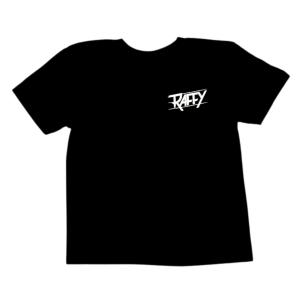 t-shirt enfant raffy unisexe noir